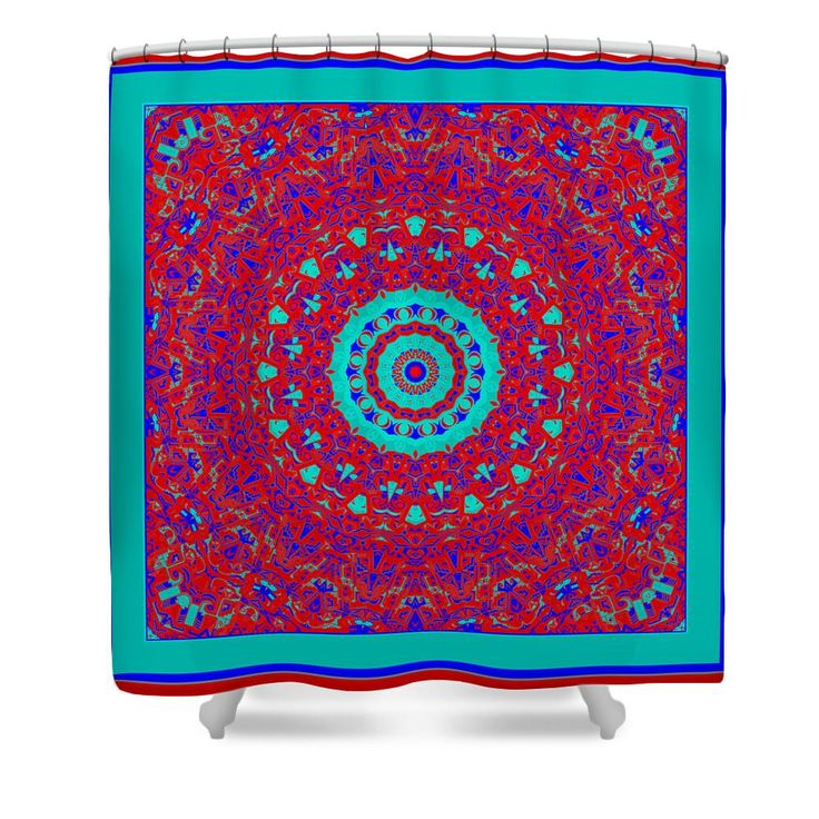 Cheyanne Neon Orange And Blue Kaleidoscope Shower Curtain Neon Products An
