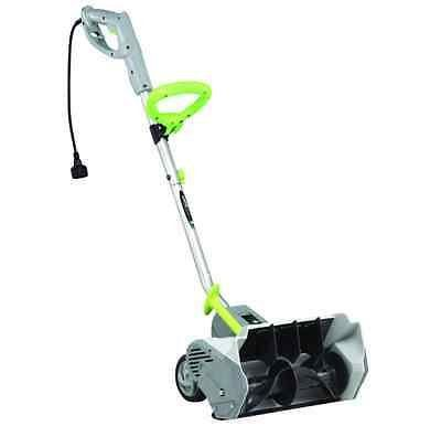 Earthwise 12 AMP Electric Snow Thrower Power Shovel with Wheels Snow Blower