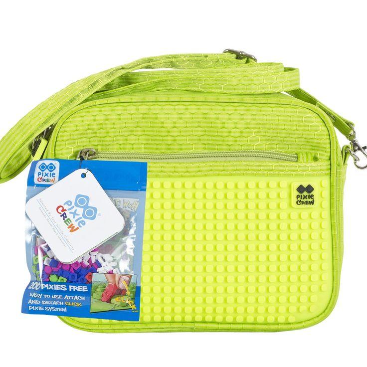 PIXIE CREW Handbag GREEN/NEON YELLOW