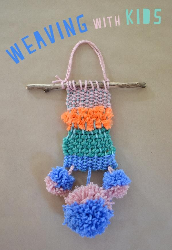 Make cardboard looms and show little kids how to weave too!
