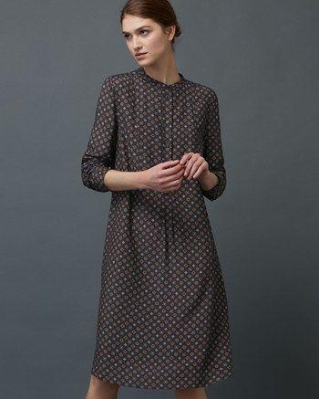 Women's Diamond Foulard Shirt Dress