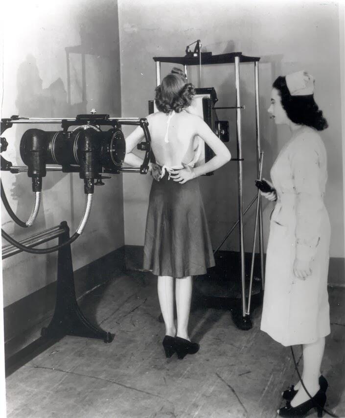 Taking an X-ray exam