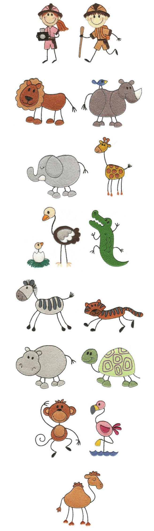 Embroidery | Machine Embroidery Designs | The Stix Family Safari