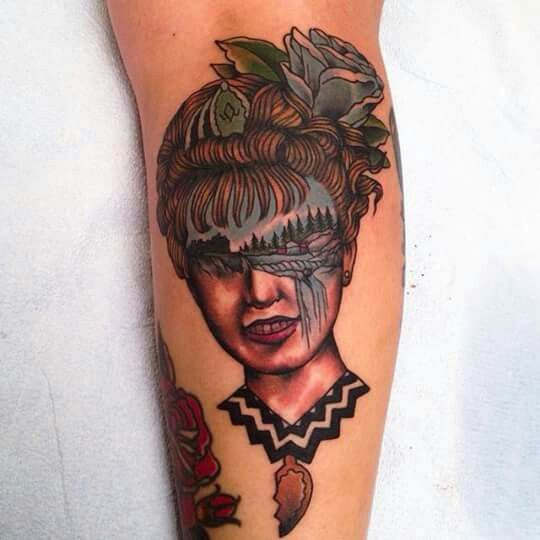 Laura Palmer / Twin Peaks tattoo by Aaron Hodges