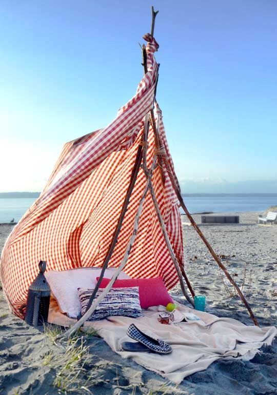 summer ideas for the beach...won't survive the south wester though
