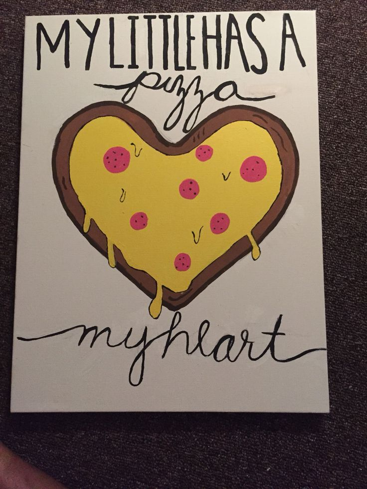 Pizza my heart sorority craft