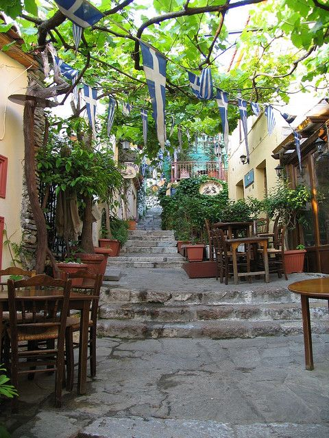 The Plaka is a neighborhood in Athens, Greece near the Acropolis. It is like a village within the city. http://www.athensguide.com/plaka.html
