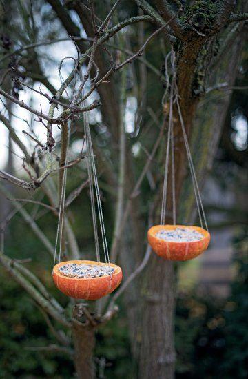 How to feed birds during winter ? DIY pour nourrir les oiseaux pendant l'hiver ? Des bols suspendus - Marie Claire Idées