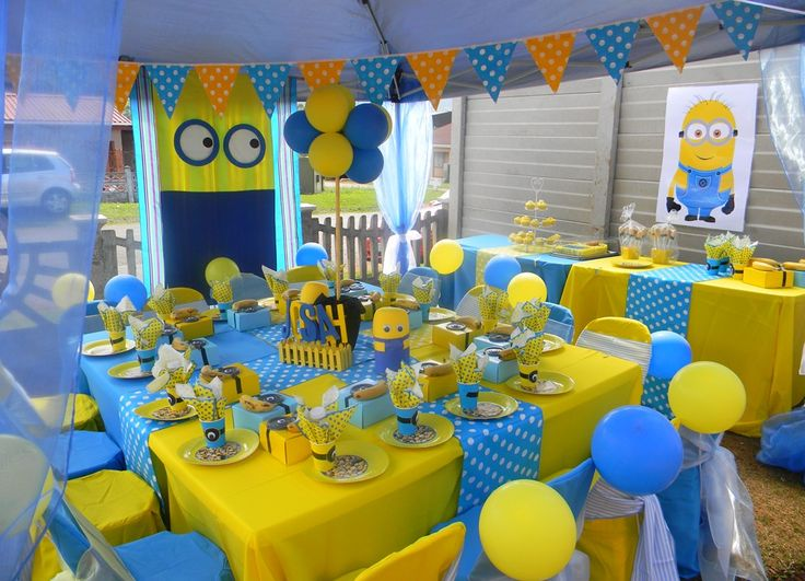 Minnions themed kiddies set-up by Co-Ords Kidz Party Boutique