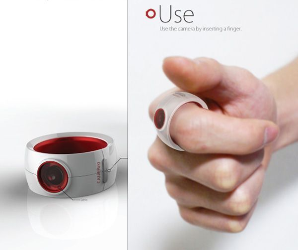 """Want this so much. """"The camera ring. Perfect for low-key photography."""" AKA for when you see ridiculous things in public but wanna be subtle as you document it so people believe the story. Or stalking."""
