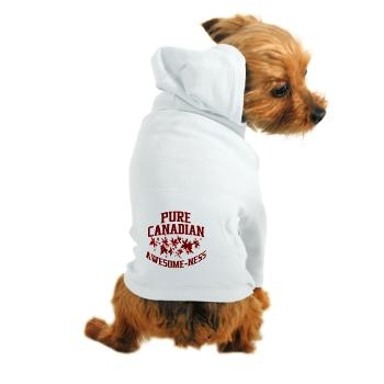 Pure Canadian Awesome-Ness Dog Hoodie