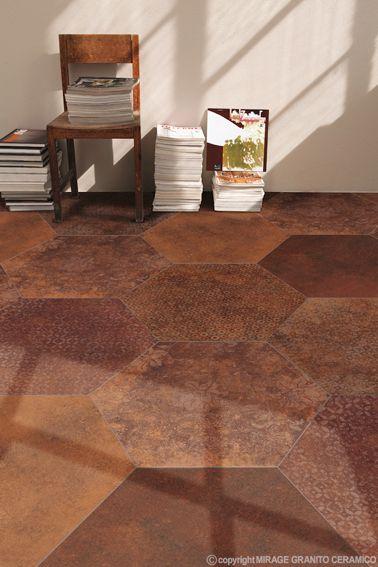 www.mirage.it  Heritage Collection | #Architecture #Design #Ceramics #Tiles #Ecology #Brown #Indoor #Floor #Modern
