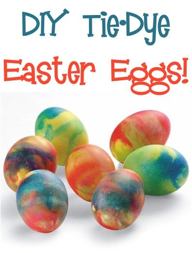 How to Make Tie-Dye Easter Eggs! ~ give your traditional dying of Easter Eggs some fun flair with this project! #crafts #eastereggs