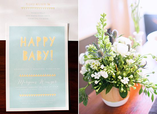 We adore this bright, modern baby shower by Bash Please via @100 Layer Cake #HonestBabyShower
