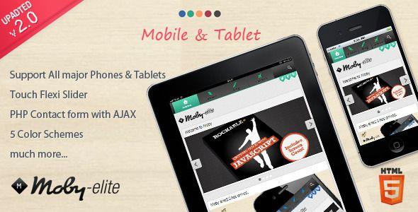 50 Best Mobile Website Templates