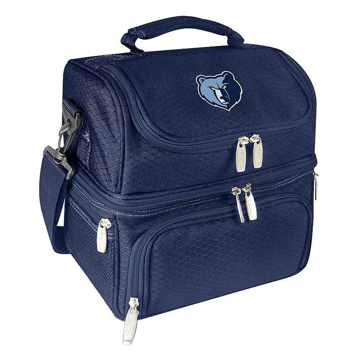Picnic Time Memphis Grizzlies Pranzo 7-Piece Insulated Cooler Lunch Tote Set, Blue (Navy)
