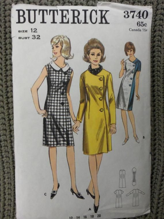 Vintage 1960s Jackie O Butterick Dress Pattern Sz 12 Uncut Etsy In 2020 Vintage Clothes Patterns Butterick Dress Patterns Vintage Dresses 1960s