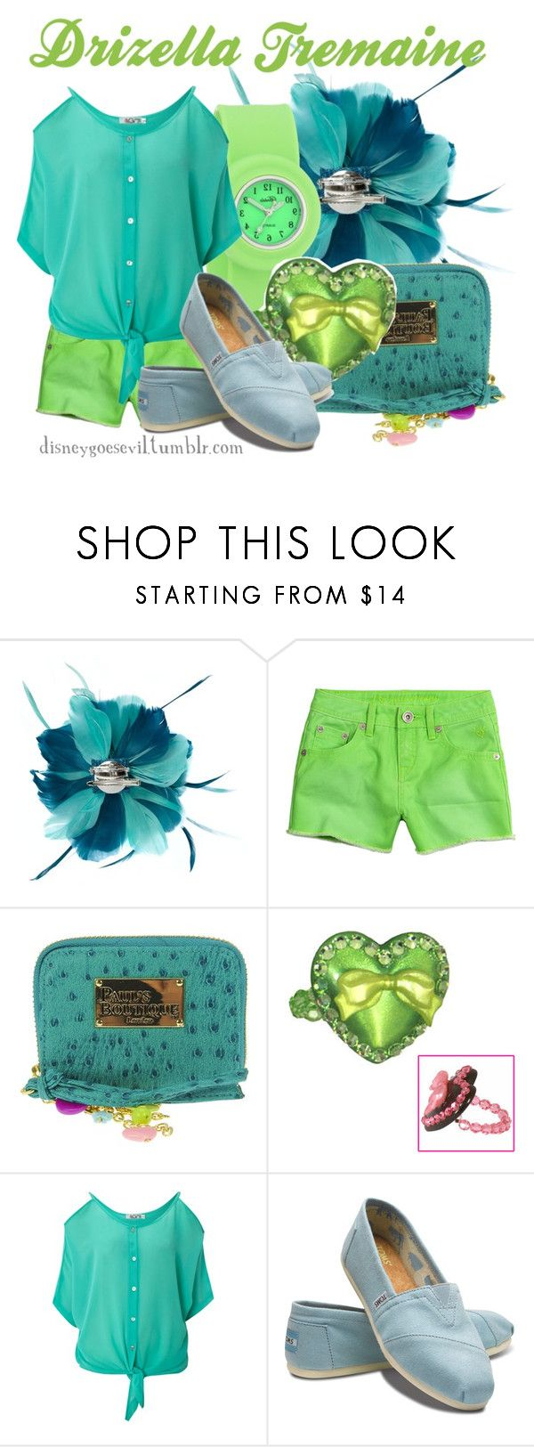 """Drizella Tremaine"" by disney-villains ❤ liked on Polyvore featuring Paul's Boutique, Breda, Tarina Tarantino, WalG and TOMS"