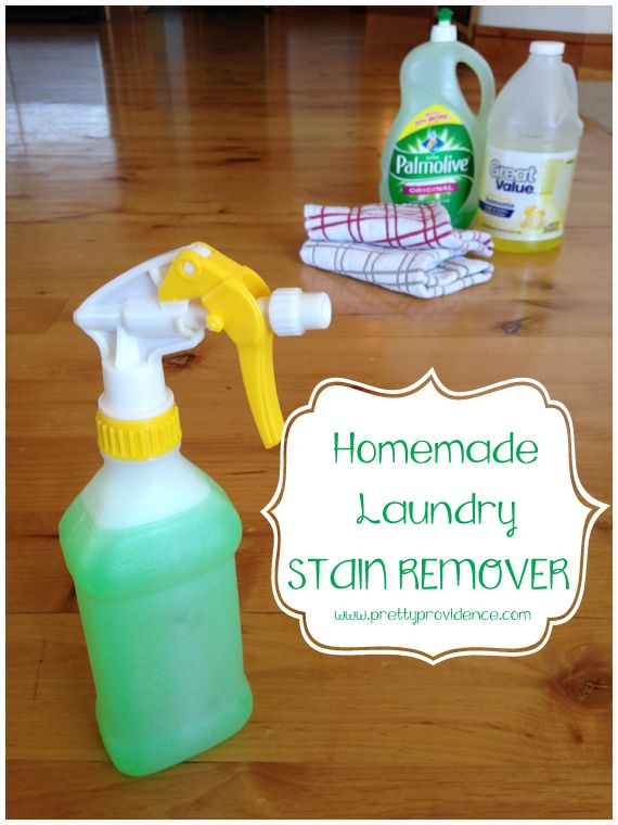 Homemade laundry spot treater! This stuff is great! Definitely as good as the store bought kind and wayyyyyy cheaper.