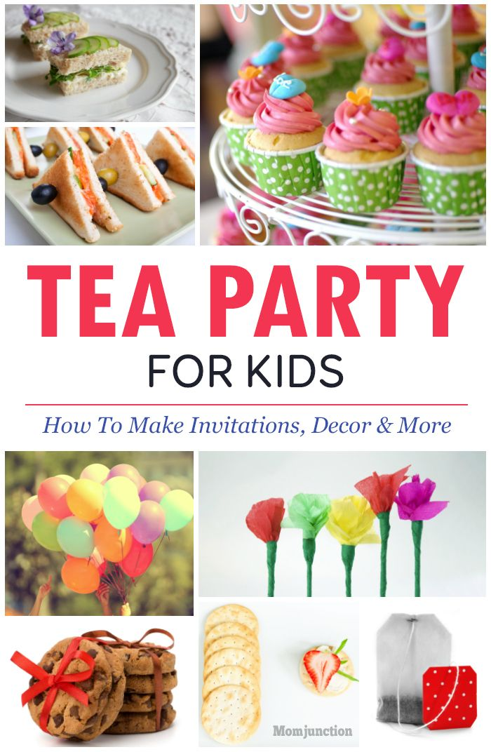 Tea party ideas for kids invitations and decor ideas for How to decorate for a tea party