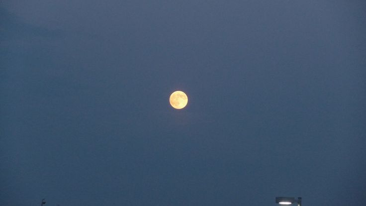Another shot of full moon in Winnipeg at Red River Ex on Saturday evening 930pm