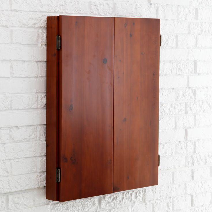 Metropolitan Dart Board Solid Wood Cabinet for Bristle Dart Boards - 40-0402