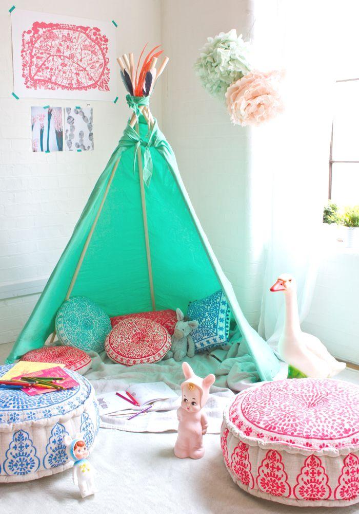 DIY Tipi enfant / Réaliser un tipi pour la chambre de son enfant