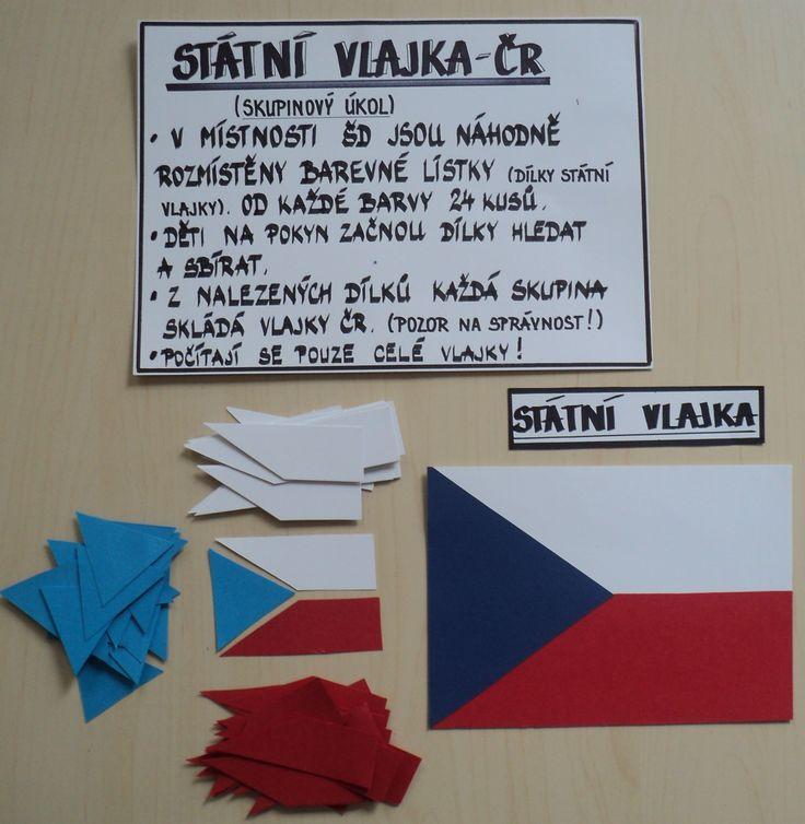 Státní vlajka - připraveno na soutěž skupin