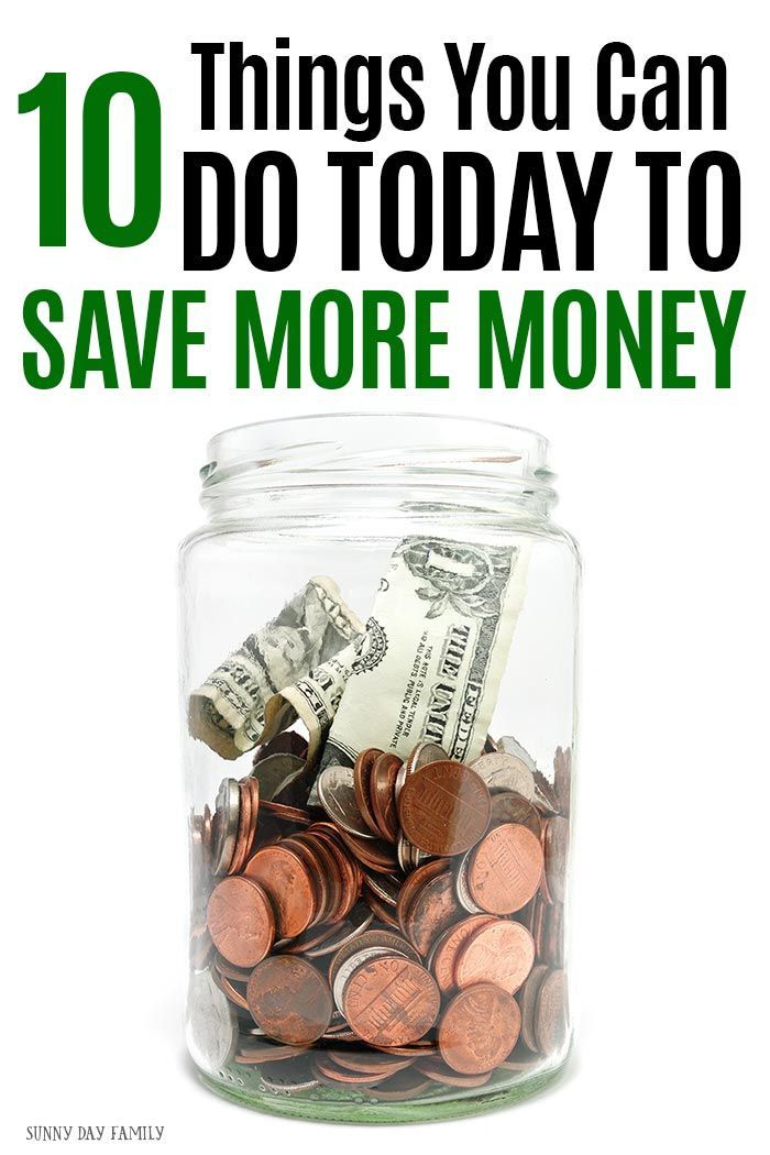 Save money now with these easy tips! You can do all 10 of these things today and you'll be saving more money tomorrow. #money #savemoney #frugal #budget