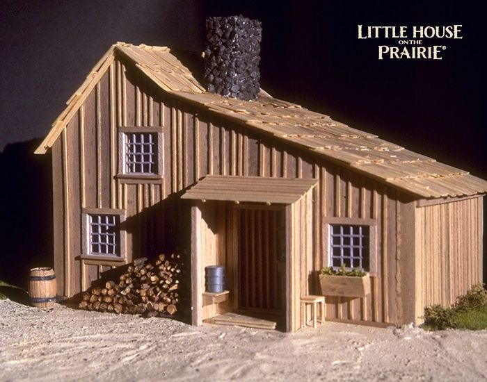 A large scale model of the Ingalls family house.....I think this tv show inspires my love of tiny houses in the woods !