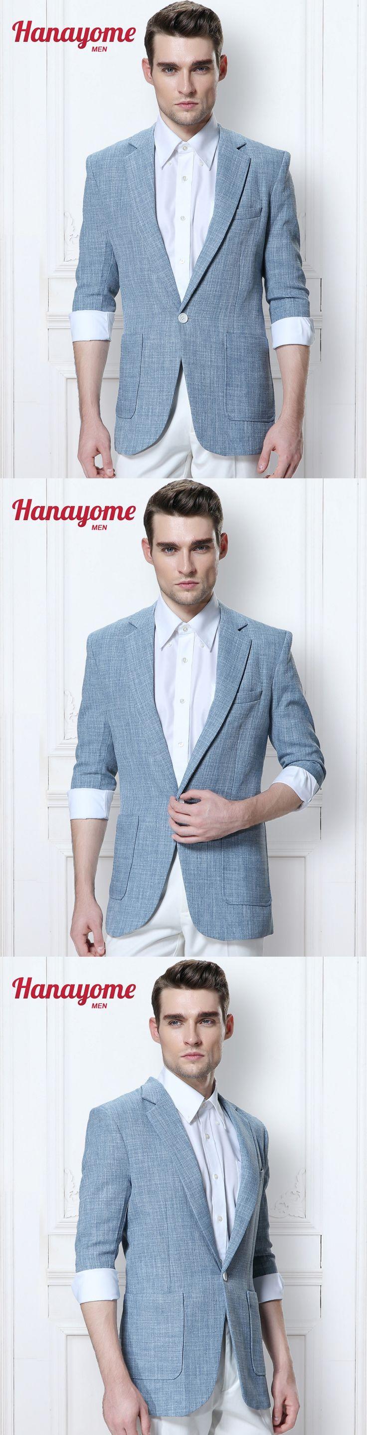 Royal Blue Pants For Men Plaid Blue Suit 2pc Set Men Tuxedo With Sequins Men's 2017 Summer 1/2 Sleeves Suit & Pants D325