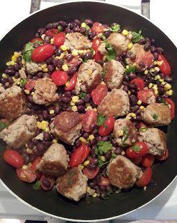 Southwest Turkey Meatballs turned Enchiladas turned Tacos.  What?
