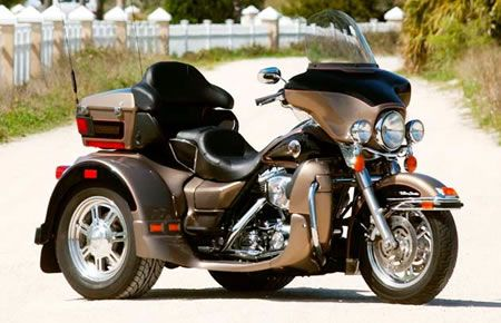 Harley Davidson Trike. Mike will own one someday and we are going to take road trips!