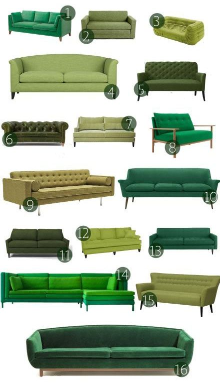 1000 ideas about green sofa on pinterest green chairs velvet sofa and gre - Fauteuil crapaud vert anis ...