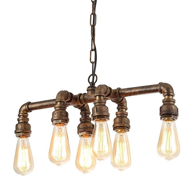 Seol Light Industrial Pipe Chandeliers With 6 Lights Max 360w