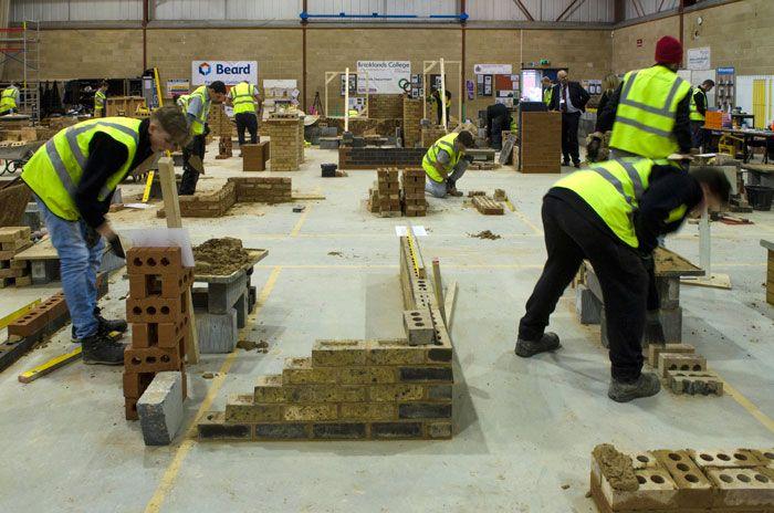 Brooklands college brickwork department at BDA lovebrick road show on 24th November 2015, sponsored by MBH PLC.