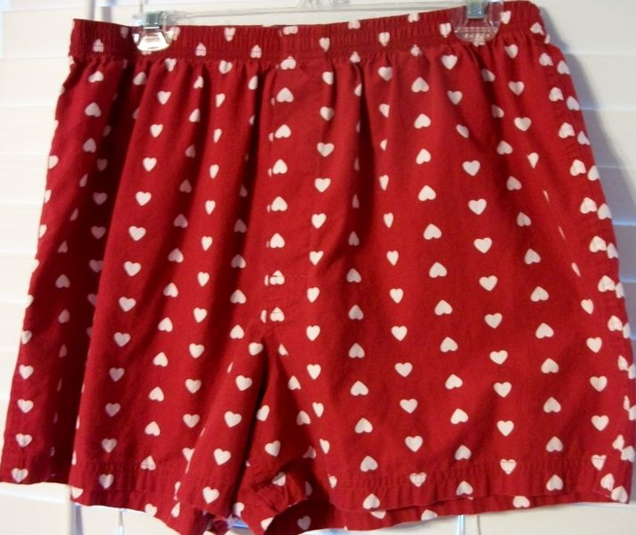 Lots Of VALENTINE FUN!! Menu0027s Red/Heart BOXERS By Merona   Large (