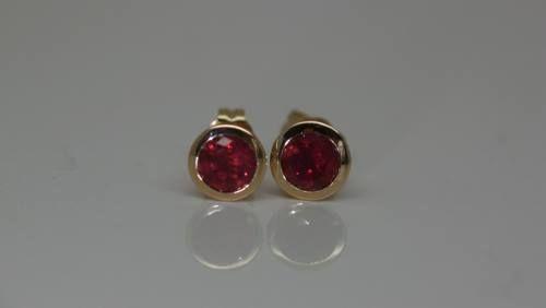 ruby-earrings-fair-trade-handmade-recycled-bezel-18-carat-yellow-gold