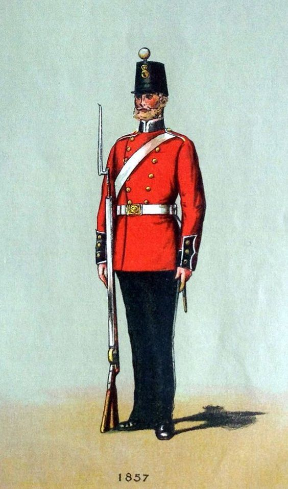 British; The Royal Regiment of Welch Fuzileers, 1857