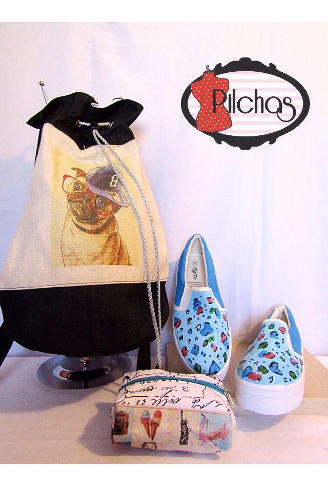Mochilas, estuches y Panchitas para combinar tu vuelta a clases con originalidad y estilo!!