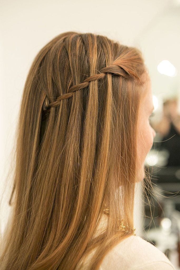 Drop your layers over the pinned-back plait, and admire your pinnable hair! Source: Caroline Voagen Nelson