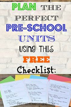 Plan Homeschool Preschool Units (without spending any money!) - This Little Home of Mine