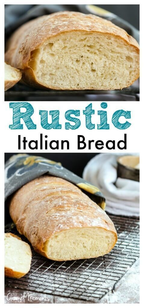 Rustic Italian Bread  This crusty Italian bread loaf makes the perfect addition to the dinner table. A great side for pasta, soup and Sunday dinner.