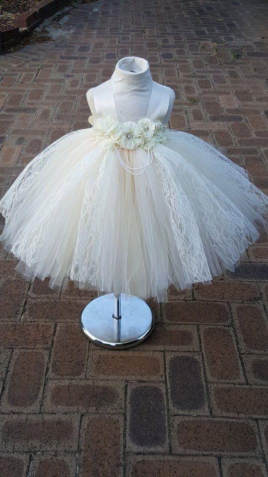 2 reserved ivory Beige Flower Girl Dress от FunkidsandUsBoutique
