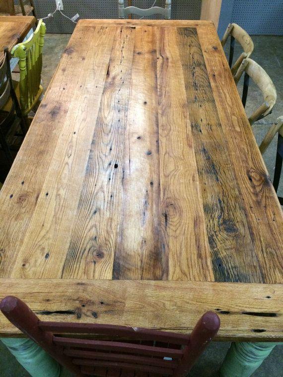 7 Foot Reclaimed Oak Farm House Table By
