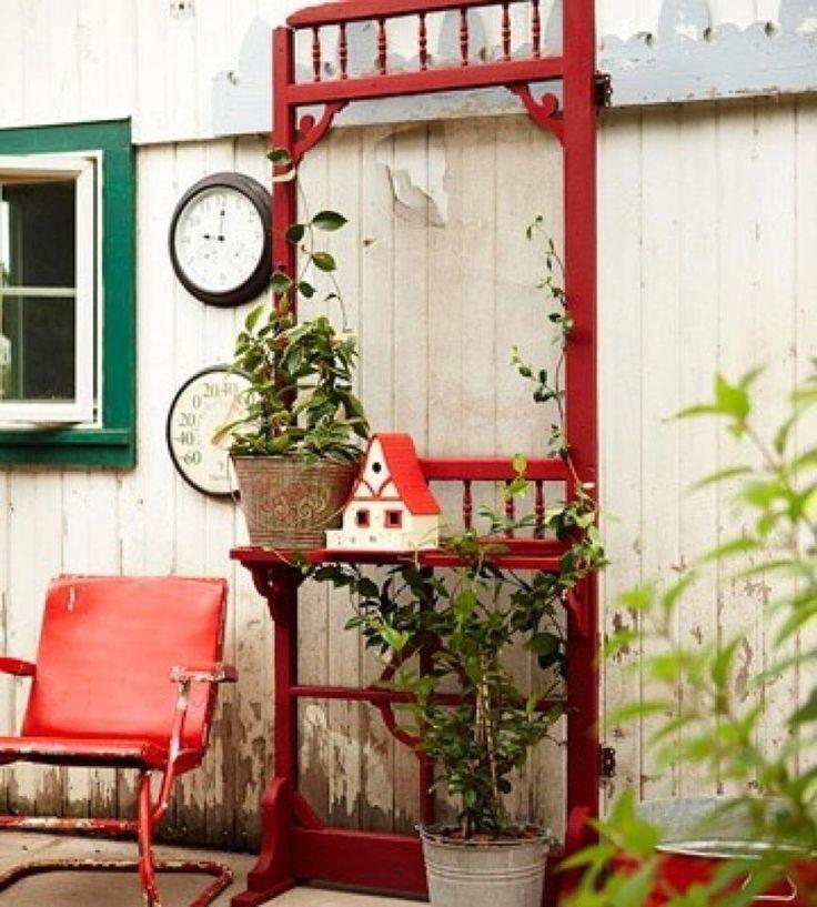 Garden Decor Screen: Glass & Garden Art That I LOVE!