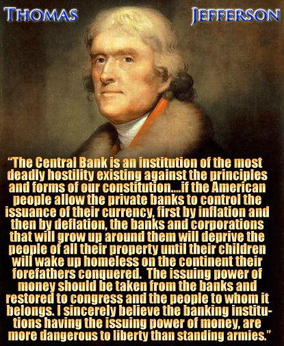 jefferson; The Central Bank