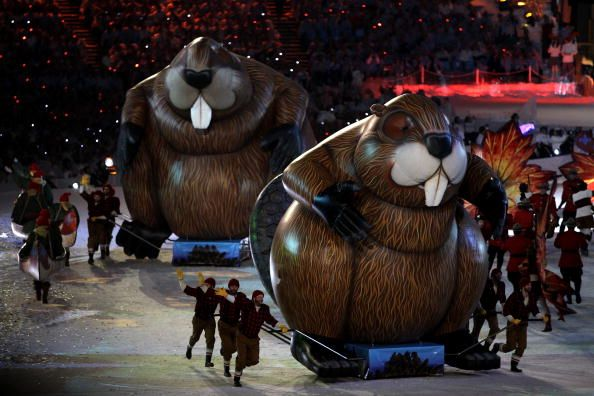Beaver Balloons, part of the 2010 Vancouver Winter Olympic Games Closing Ceremonies.