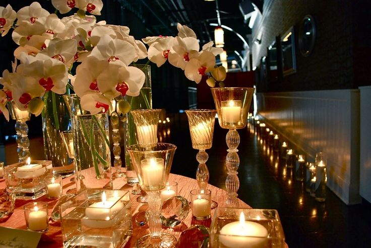 Dining Room, Beauteous And Romantic Valentine Day Dining Table Decoration With White Orchids Month Centrepiece And Candle Light Design: Interesting Romantic Moment At Dining Tables for Excellent Valentine Day