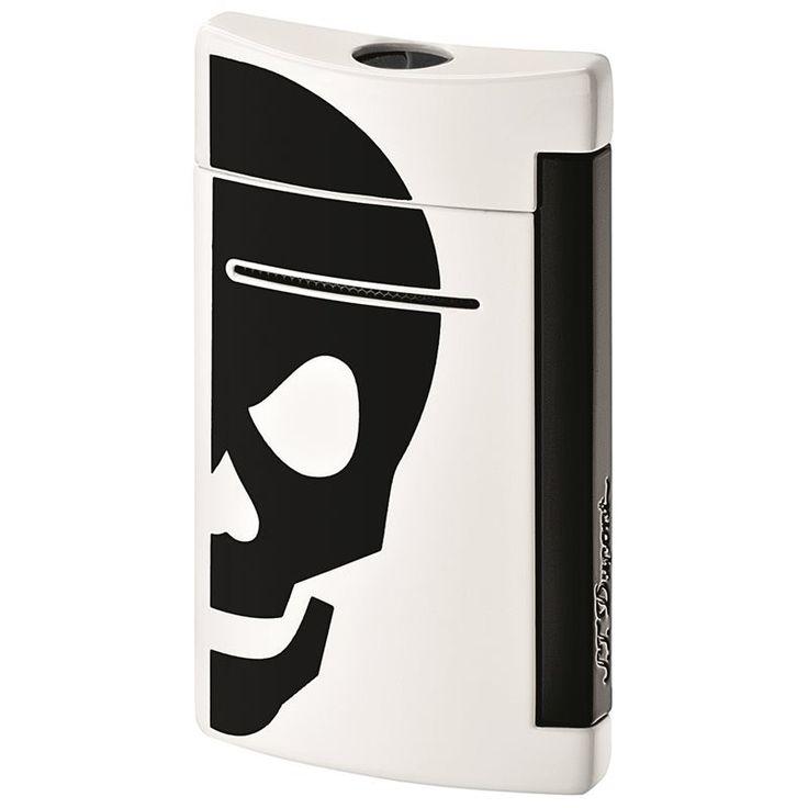 Accendino Minijet con teschio nero di ST Dupont per uomo e per donna. Acquistalo subito su ScintilleShop.com!  #accendino #teschio #halloween